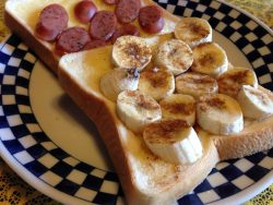 忙しい朝も!シナモンバナナトースト♪