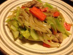 クミンで一味違う野菜炒め
