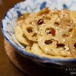 【レシピ】厚切りレンコンのピリ辛炒め